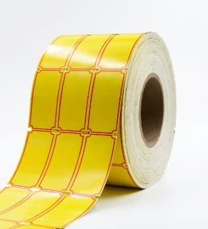 Etiqueta Cartón Cobar Amarilla 3 Promocional